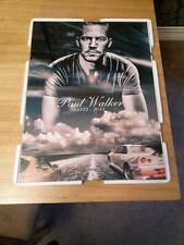 Rápido Y Furioso Paul Walker RIP A4 Póster enmarcado impresión/