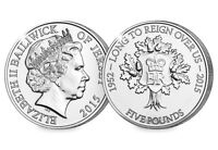 The Longest Reigning  Monarch 2015 £5 coins
