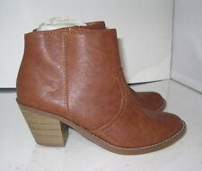 """new ladies Tan 2.5"""" Low Heel Round Toe  Sexy Ankle Boot Size 6"""