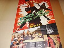 bruce lee  CONTRE SUPERMEN   ! affiche cinema karate kung-fu