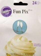 Wilton Fun Pix - Toasting Glasses 24ct