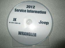 2012 JEEP WRANGLER Service INFORMATION Shop Repair Manual CD DVD OEM BRAND NEW