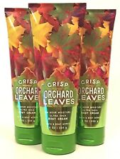 3 BATH & BODY WORKS CRISP ORCHRD LEAVES HAND BODY CREAM 8 OZ 24HR MOISTURE SHEA
