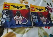 2 LEGO Kiss Kiss Tuxedo Batman Key Chains - 5004928 - NEW polybag