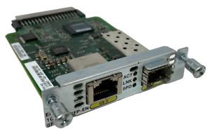 Cisco Gigabit Ethernet Copper Card EHWIC-1GE-SFP-CU V01 73-13295-01 Inc VAT