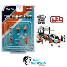 American Diorama 1:64 - Team Transporter Crew Figures - 6pcs - Die Cast Metal