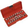 Sealey Tools Oil Drain Sump Plug Socket Key Removal Tool Set 19pc 3/8 Drive