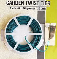 PLANT TWINE SOFT FLEXIBLE BENDY GARDEN SUPPORT WIRE CABLE TWIST TIE