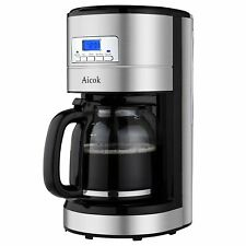 Aicok Coffee Maker, 12 Cup Best Coffee Maker with Coffee Pot, Programmable Coffe