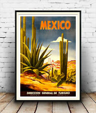 Mexico Travel Advertising Poster reproduction
