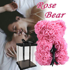 25CM Romantic Teddy Bear Rose Bear Valentine's Day Weeding Gift With Gifts Box