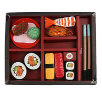 Kids Pretend Play Japanese Sushi Food Box Kitchen Role Playing Game Toy
