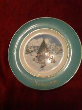 "Rare Avon 1978 Christmas Series Plate ""Trimming The Tree"" Sixth Edition Stidham"