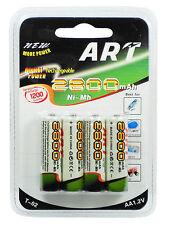 Batterie stilo AA-AAA ricaricabili da 1 a 5 pacchetti 2800-1250mAh 1.2V pile