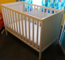 IKEA SUNDVIK COT The Converts to COTBED MOTHERCARE AMICOR PURE MATRESS 120 x 60