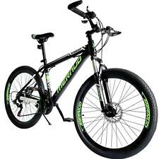 "Mountain Bike 26"" Mag Wheels Front Suspension Bicycle 21 Speed Mtb Bike Green"