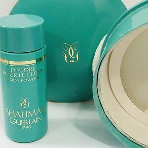 Guerlain Shalimar Dusting Powder Box Vintage Perfumed 1 Ounce