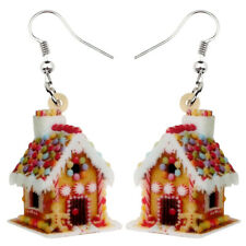 Acrylic Christmas Dream House Earrings Dangle Charm Jewelry For Women Girl Gift