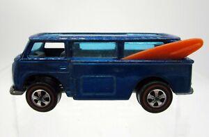 Vtg 1969 Hot Wheels Volkswagen Beach Bomb VW Van Blue Redline Redlines Hong Kong