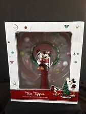 New Disney Store Minnie And Mickey Mouse Christmas Tree Topper