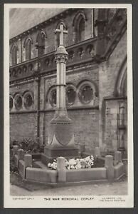 Postcard Copley near Staindrop Durham view of The War Memorial RP by Lilywhite