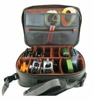 Large Fly Fishing Reel Case - Hard Sided With Padded Interior-Shoulder Strap