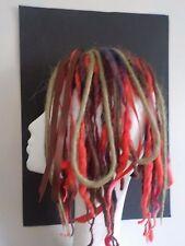 Wool Dreads short hair falls warm natural red browns, festival boho kawaii