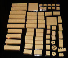 LEGO BULK LOT OF 60 TAN BRICKS LOOSE 2X10s, 2x8s,2x6s. + Speciality Pieces