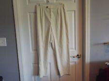 EUC Coldwater Creek cream color pants womens L. part elastic,2 pockets, 95% poly