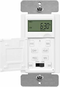ENERLITES Digital Programmable Timer Switch In Wall for Fans Lights and Motors