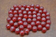500+ PCS RED RESIN PLASTIC BEADING BEADS 10MM 1 LB #H-42