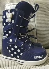 ThirtyTwo 86 Fast Track Womens Snowboard Boots Purple White Polka Dot Size 5