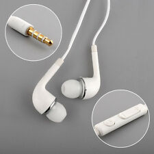 Hot Wired WHITE In Ear HEADSET HEADPHONES Earphone FOR SAMSUNG GALAXY S4 i9500