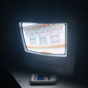 "Retro TV Panasonic PV-C930W Omnivision 9"" Color TV/VCR/FM Retro Gaming TESTED"