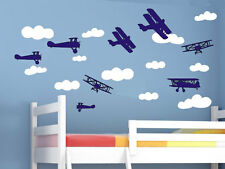 wall stickers custom name aircrafts cloud kids baby vinyl decal decor Nursery