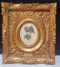 Windsor Art Products 1989 Framed Print GERANIUM IBERICUM Carved Gold Wood Frame