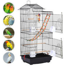 39'' High Large Parrot Cage Metal Bird Cage Canary Cockatiel w/Toys Wow
