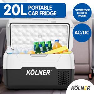 Kolner 20L Portable Fridge Freezer Cooler 12/24/240V Camping Refrigerator Black