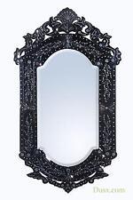 Dusx Vintage Venezia Mirror With Delicate Etching Glass Black 2 X 70 X 121 Cm
