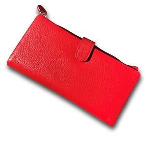 Ladies RED Leather 19cm Wallet