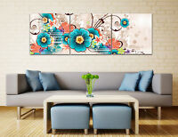 "3PC 16x16"" Abstract Wall Decor Art Oil Painting on Canvas NO frame Flowers 71"