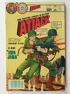 LOT of THREE 1970s ATTACK WAR COMICS # 34~ALL HIGH GRADE ISSUES~