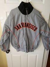 Majestic Authentic San Francisco Giants MLB Baseball Jacket Grey Orange Sz L