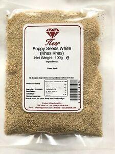 Poppy Seeds White, Khas Khas, Khus Khus, Kaskas 100g - 1Kg