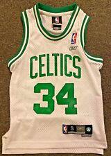 Reebok Celtics Paul Pierce Jersey Youth Small (8) #34 White Green. Length +2