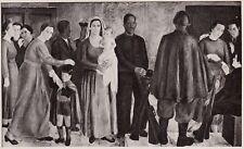 D5059 Franco Girosi - L'Offerta della Fede - Stampa d'epoca - 1938 vintage print