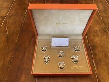 More details for vintage set 6 silver plated frogs place card holders saint hilaire paris 20th c