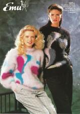 """EM1371A LADIES MOHAIR ABSTRACT SWEATER KNITTING PATTERN 28-38""""/71-97cm"""