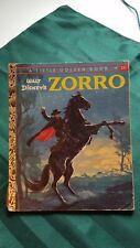 VINTAGE, WALT DISNEY'S ZORRO A LITTLE GOLDEN BOOK #D68 1958