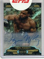 2017 Topps UFC Chrome Auto TYRON WOODLEY Tier One Refractor AUTOGRAPH 3/5 Rare